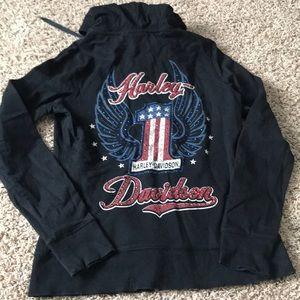 Harley Davidson zip up hoody